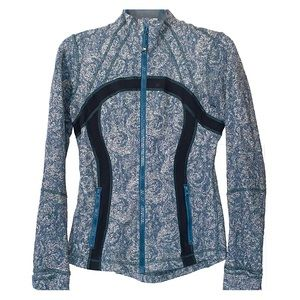 Lululemon blue patterned zip up